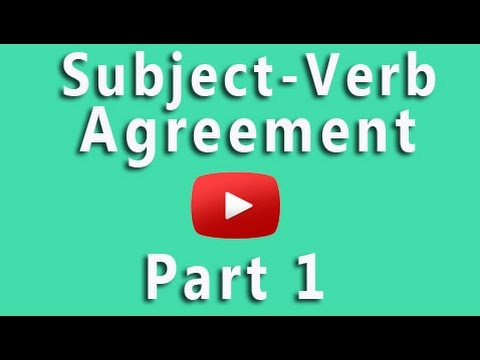 Subject-Verb Agreement Grammar Check Rules for SV Agreement - YouTube