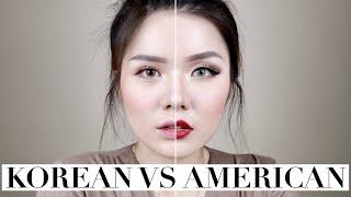 Korean vs American Makeup | Christine Sindoko