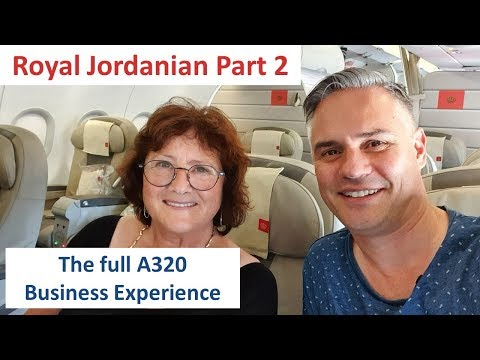 The Full A320 Business Experience - Royal Jordanian Part 2