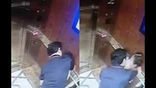Tin Đc Ko -  Đang xử vụ 'nựng' bé gái trong thang máy: Nhìn thấy ống kính, Nguyễn Hữu Linh vào nhà v