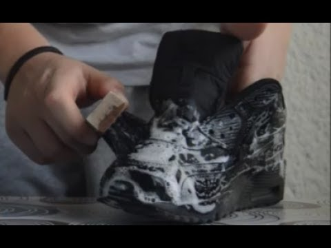 Cleaning Nike Air Max 90 Black Leather