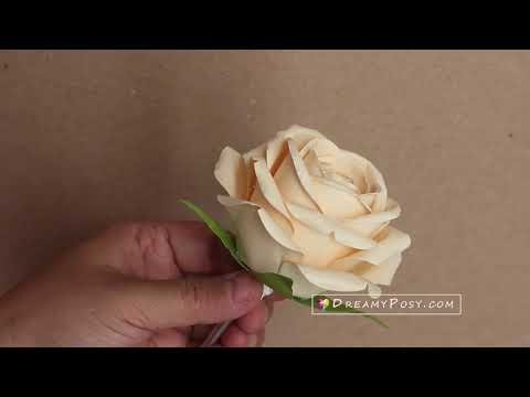 How to make stem for paper rose
