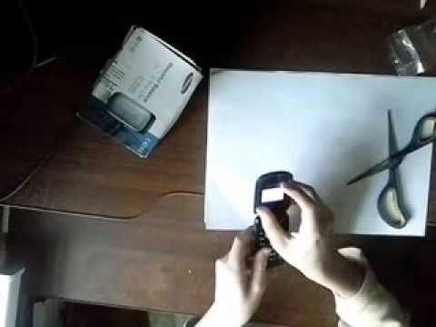 Распаковка и обзор мобильного телефона Samsung GT e1150i