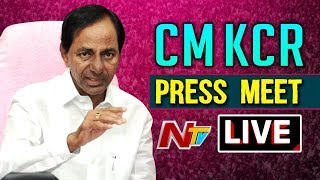 KCR LIVE || CM KCR Press Meet After Cabinet Meeting || NTV Live