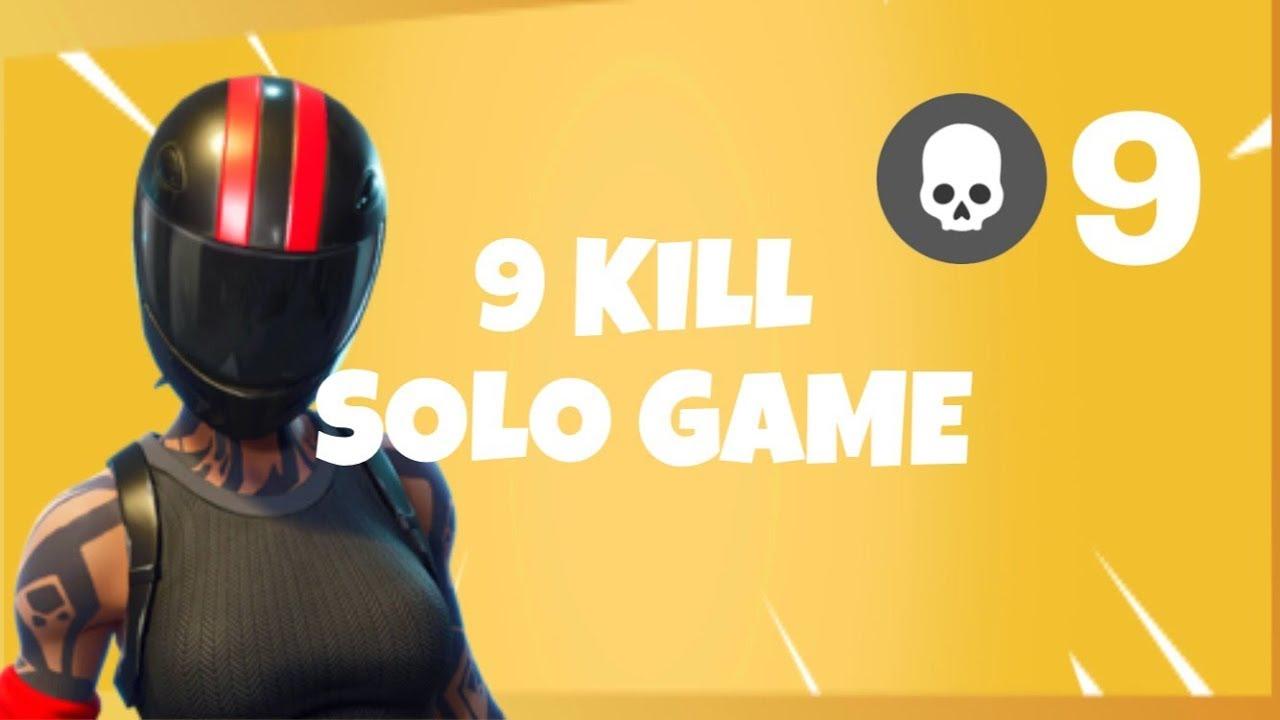 9 Kill Solo Game | Console Player (Fortnite Battle Royale)