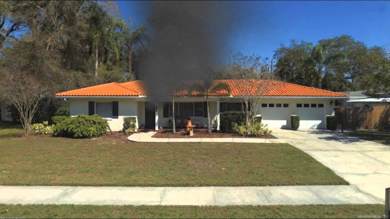 1 story single family residential fire scenario for Residential house pictures