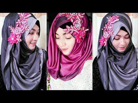 Gorgeous 2 Hijab Style with Saree | Pari ZaaD ❤