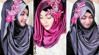 Gorgeous 2 Hijab Style with Saree | Pari ZaaD