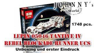 Lepin 05046 Tantive IV Rebel Blockade Runner UCS - Unboxing und erster Eindruck