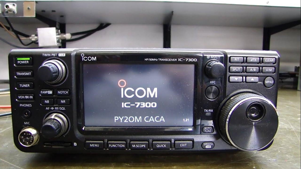 ALPHA TELECOM: ICOM IC-7300 do PY2OM - BLOQUEIO, REVISÃO e ALINHAMENTO -