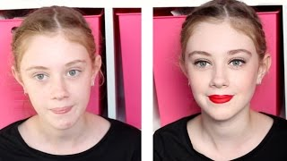 Get Ready With My 11 Year Old Cousin! (Dance Makeup) Thumbnail