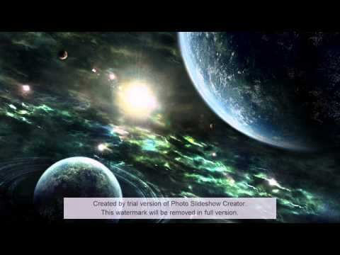 Cool Space Slideshow With Instrumental Music