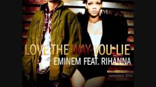 eminem FEAT. rihanna love the way you lie backwards