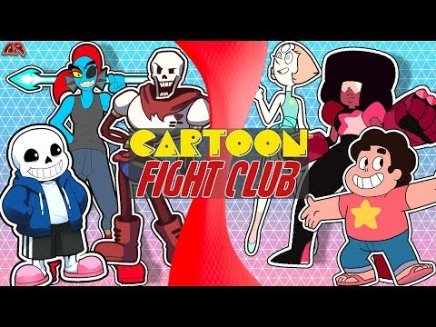 UNDERTALE vs STEVEN UNIVERSE! (Sans, Papyrus, Undyne VS Pearl, Garnet, Steven) | CARTOON FIGHT CLUB