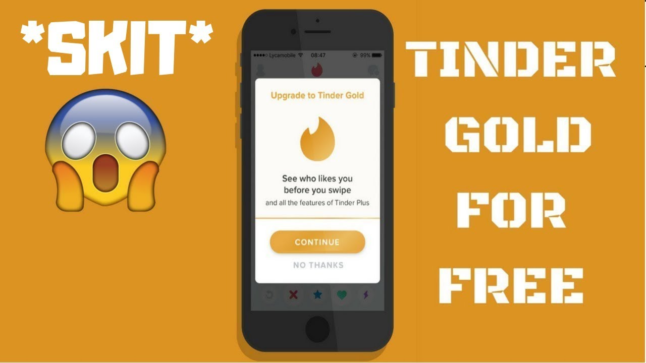HOW TO GET TINDER GOLD FOR FREE (NO JAILBREAK NO COMPUTER) 2018