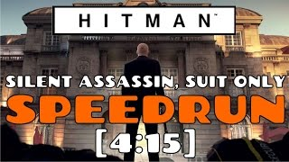 "Hitman Paris Level: ""Silent Assassin, Suit Only"" SPEEDRUN [4:15]"