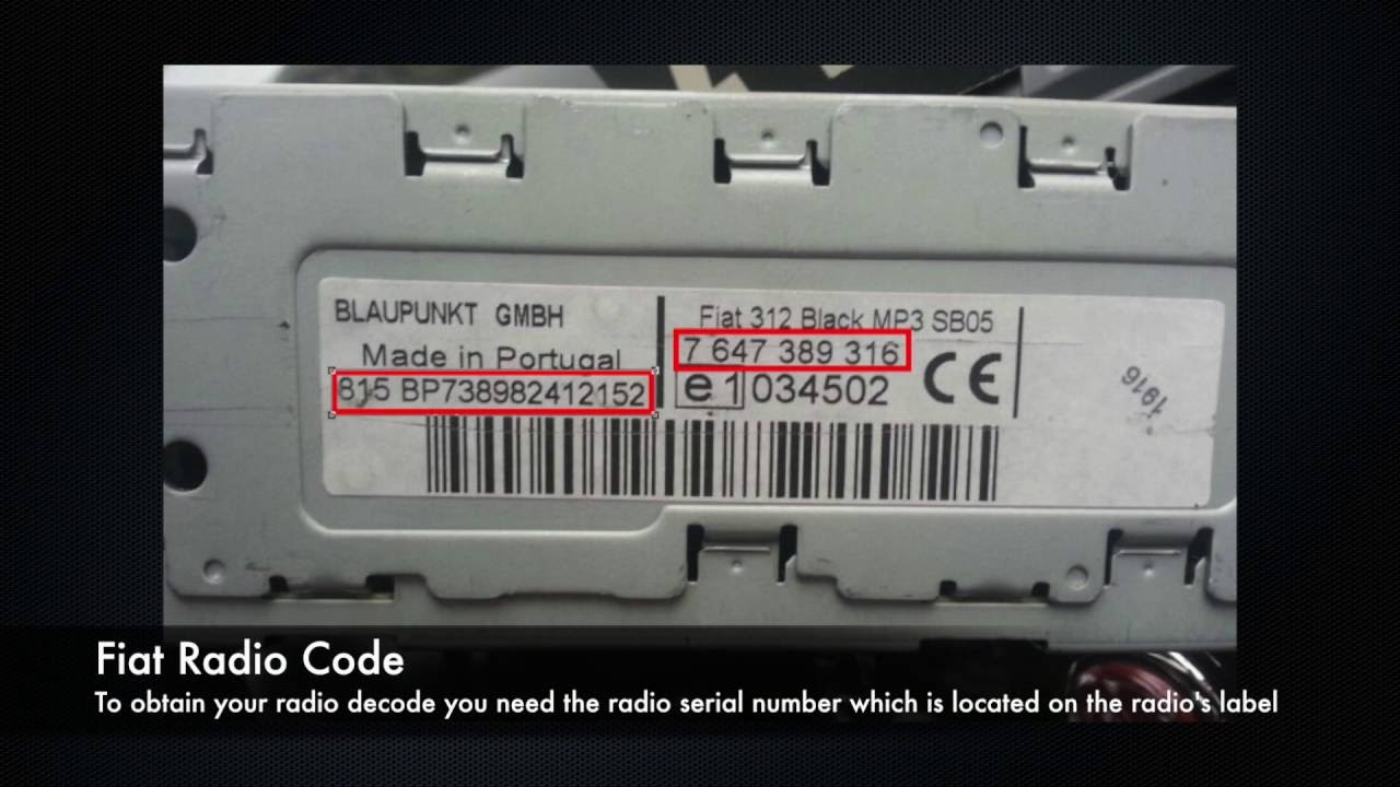 Ford 2 0 Zetec Wiring Diagram Fiat Radio Codes From Serial Number A2c Bp Cm Punto