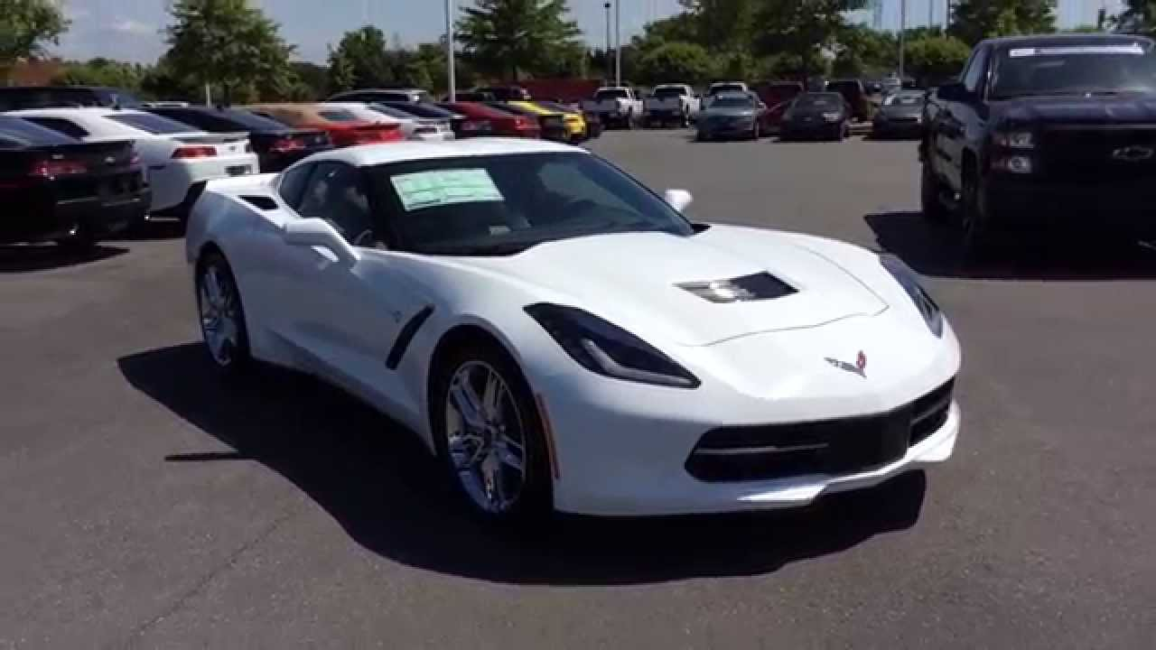 2015 chevrolet corvette stingray z51 white burns cadillac. Black Bedroom Furniture Sets. Home Design Ideas