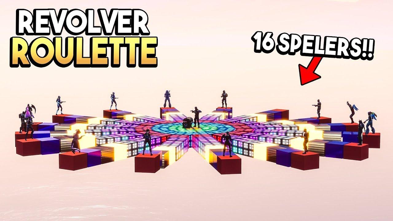 REVOLVER ROULETTE *MET 16 SPELERS* - Fortnite Creative (Nederlands)