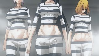 Prison School Anime Meiko & Hana & Mari Ryona Going To Prison