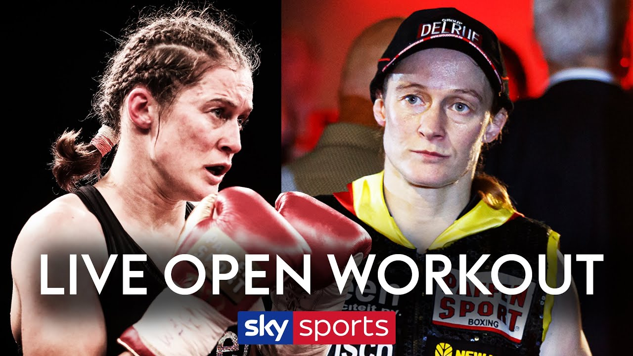 LIVE OPEN WORKOUT! Delfine Persoon trains ahead of her fight with Katie Taylor