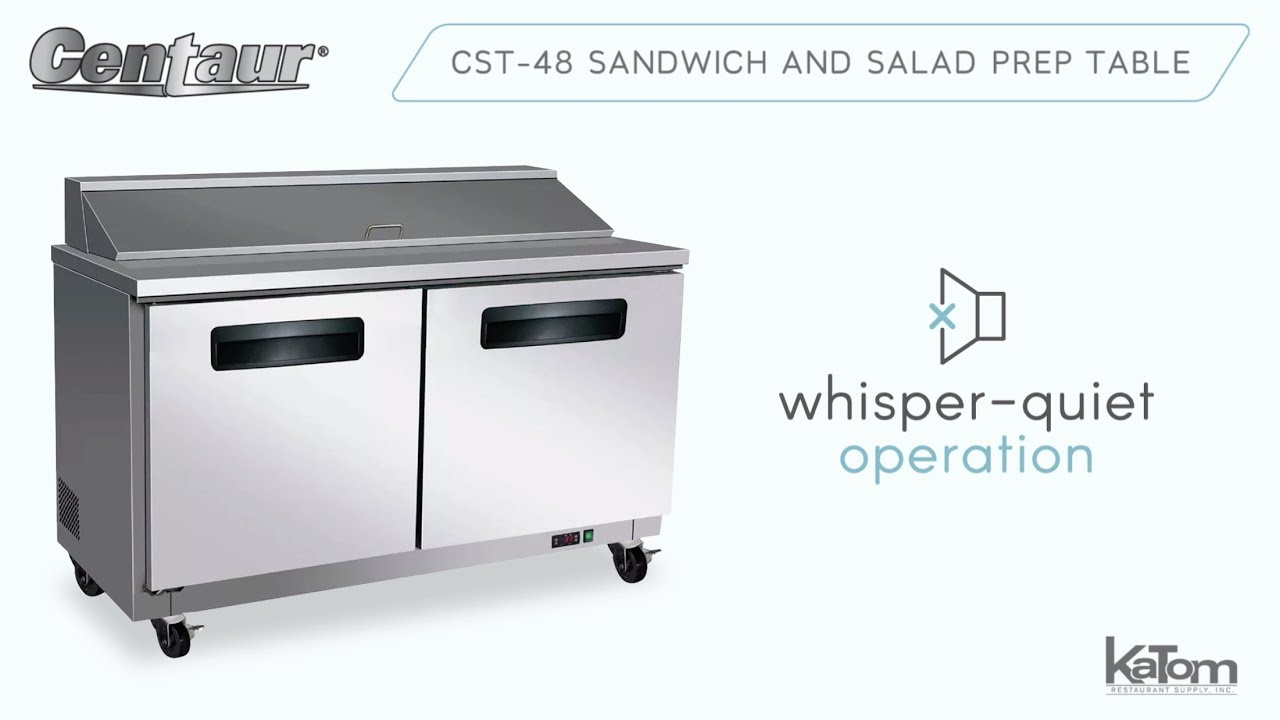 Centaur CST Sandwich And Salad Prep Table YouTube - Restaurant supply prep table