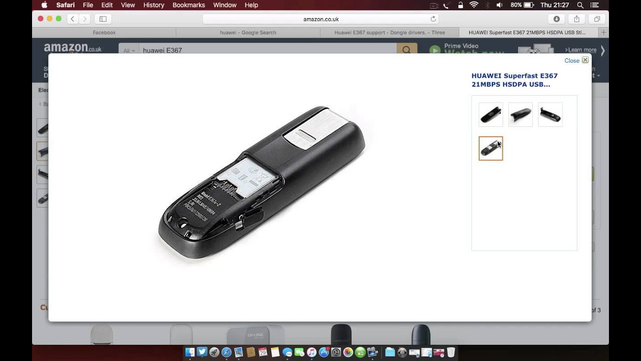 A simple fix for Huawei USB dongles in 10.9, 10.10, 10.11 ...