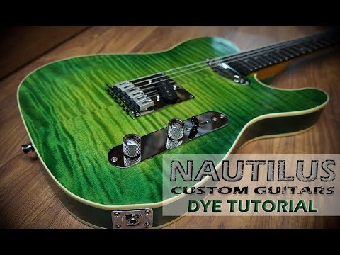 How To Green Burst Dye A Guitar