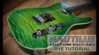 How to Green Burst Dye a guitar
