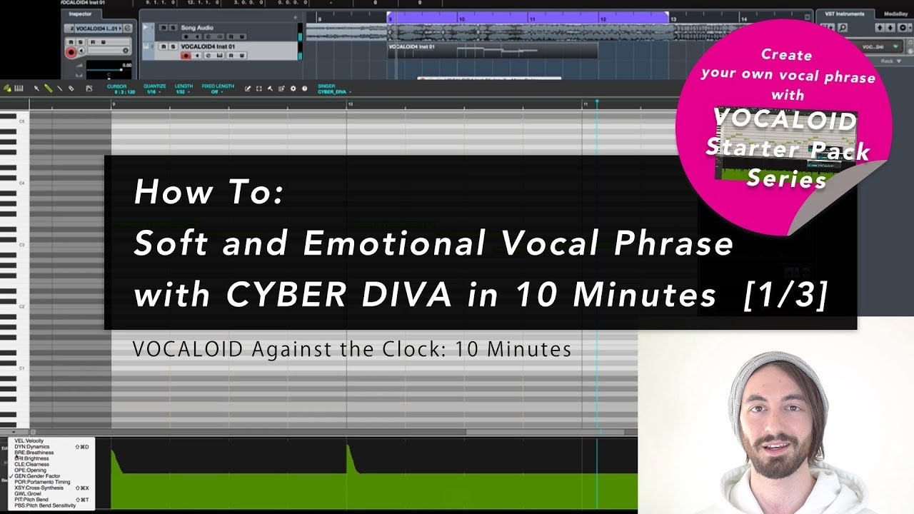 Soft and Emotional Vocal Phrase with CYBER DIVA in 10 Minutes [1/3] - Soft and Emotional Vocal Phrase with CYBER DIVA in 10 Minutes [1/3]