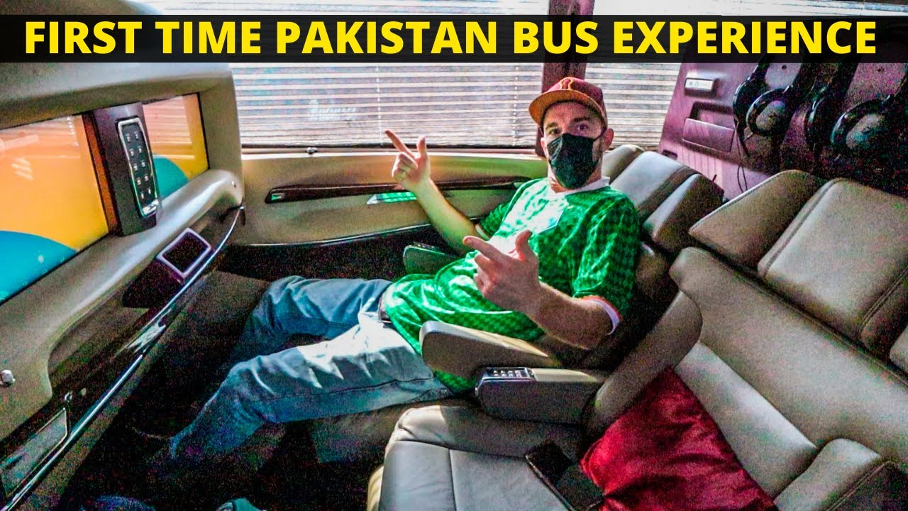 Most LUXURIOUS bus in Pakistan? Q Connect Bus Review: Lahore to Islamabad - PAKISTAN TRAVEL VLOG