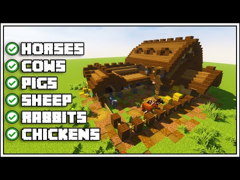 Minecraft Ultimate Barn Tutorial [How To Build]
