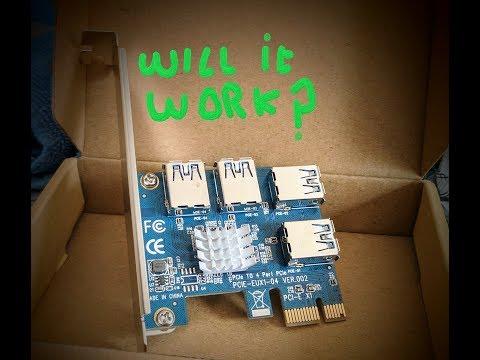 PCI e 1 to 4 adapter. 2 pci e slots & 4 Gtx 1060's