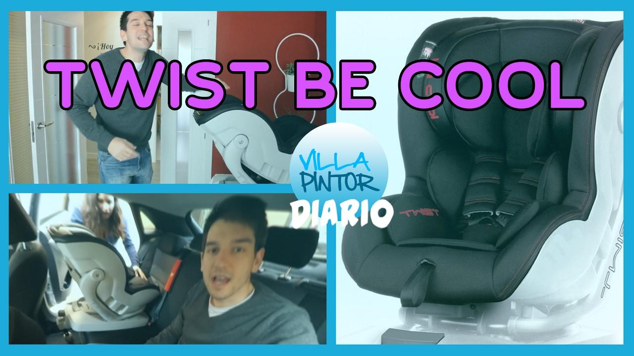 Cool Villapintor El En CocheCon Silla Nueva IsofixTwist Be Para QrsCthxd