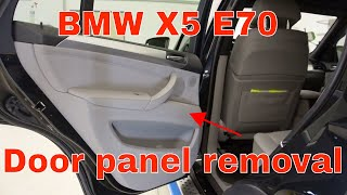 How To Remove The Door Panel BMW X5 E70
