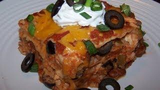 Gluten Free Tex Mex Chicken Lasagna