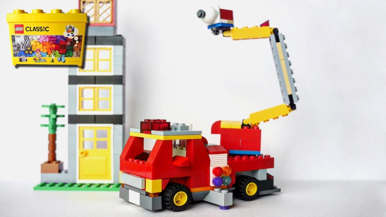 Building a LEGO Fire truck, using Classic 10698 (レゴ:消防車の作り方)