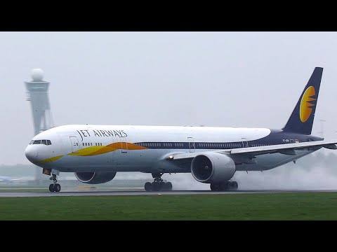 Indian Carrier, JET AIRWAYS SCHIPHOL LANDING AND DEPARTURES A333, B777.
