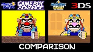 WarioWare Inc (original) vs WarioWare Gold Microgame comparison.