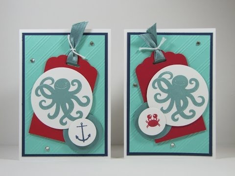Sea Street and Maritime Card using Stampin' Up! products