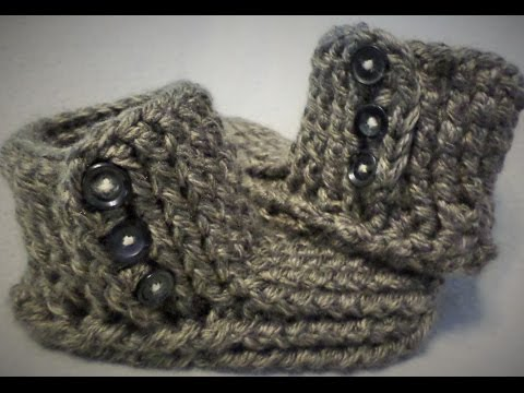 Crochet Slipper boots tutorial -  (One stop slipper sock!) Part one of two