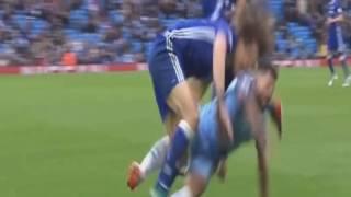 Aguero and Fernandinho red card Manchester City vs Chelsea 2016