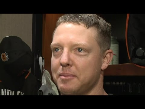 Raw Video: Pregame Interview With New Giants Catcher Nick Hundley