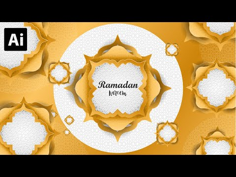How to Make a Ramadhan Kareem background Design | Pattern Texture | Adobe Illustrator Tutorial thumbnail