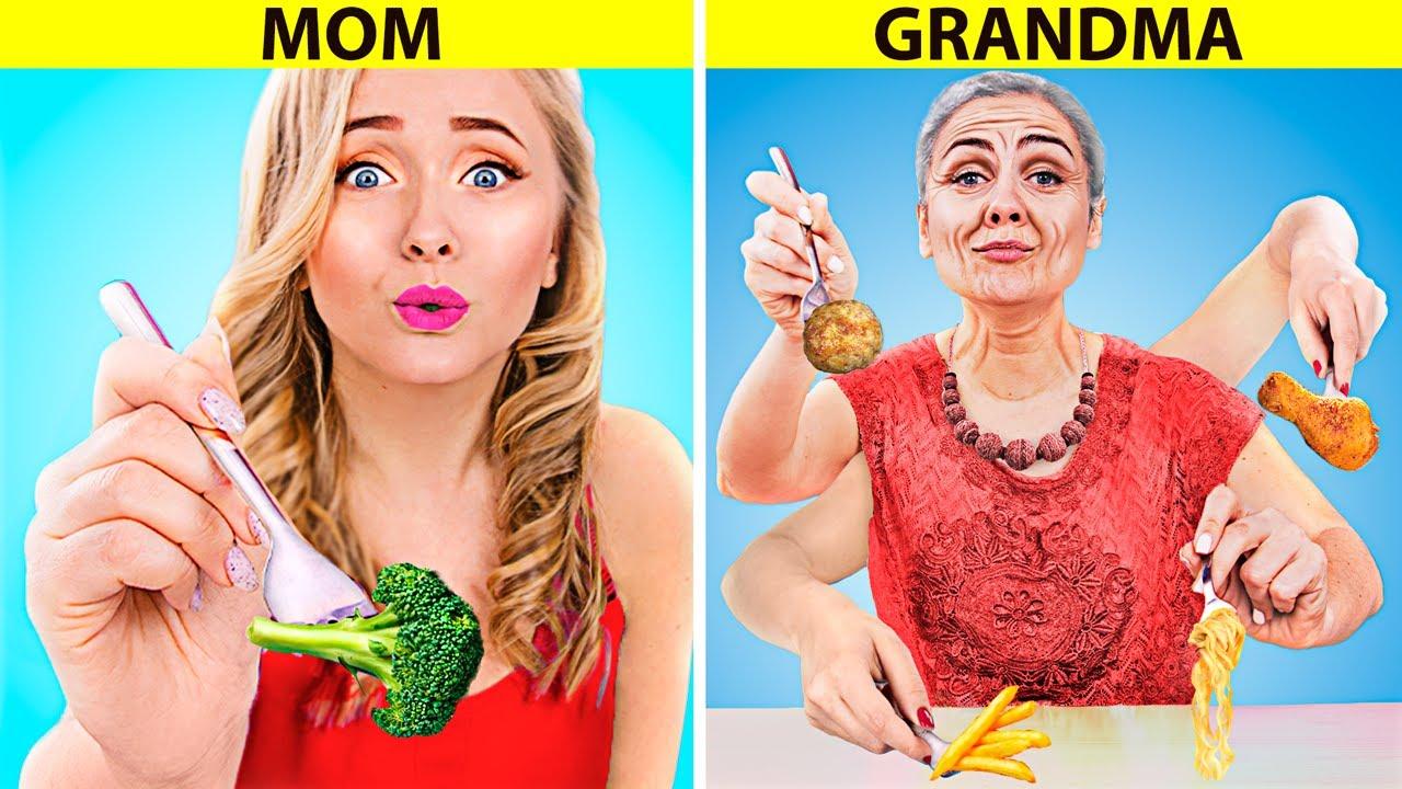 माँ vs ग्रैंड माँ  / ग्रैंड माँ ने मज़ेदार चीज़े की