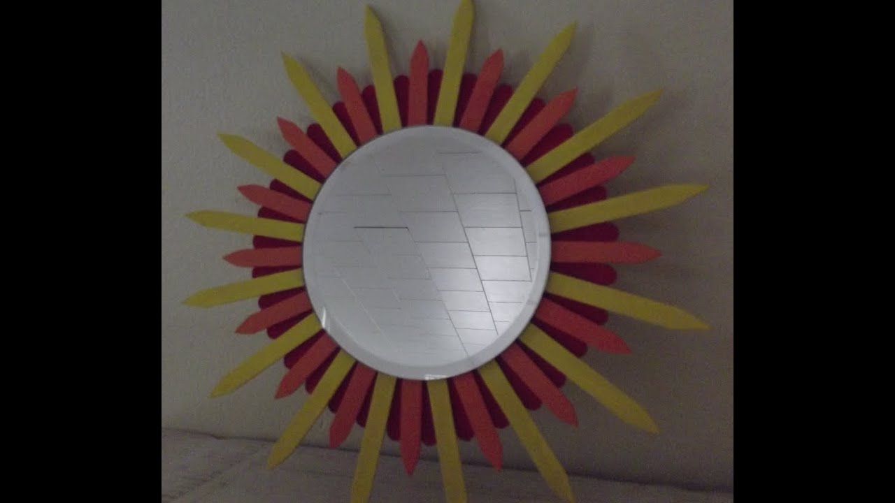 Fun diy popsicle stick mirror for under 5 dollars youtube for Wealth from waste ideas