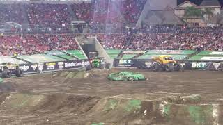 Grave Digger Freestyle. Monster Jam. Jan .12, 2019.  Raymond James Stadium, Tampa