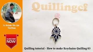 Quilling tutorial basic - How to make Quilling Keychains 03
