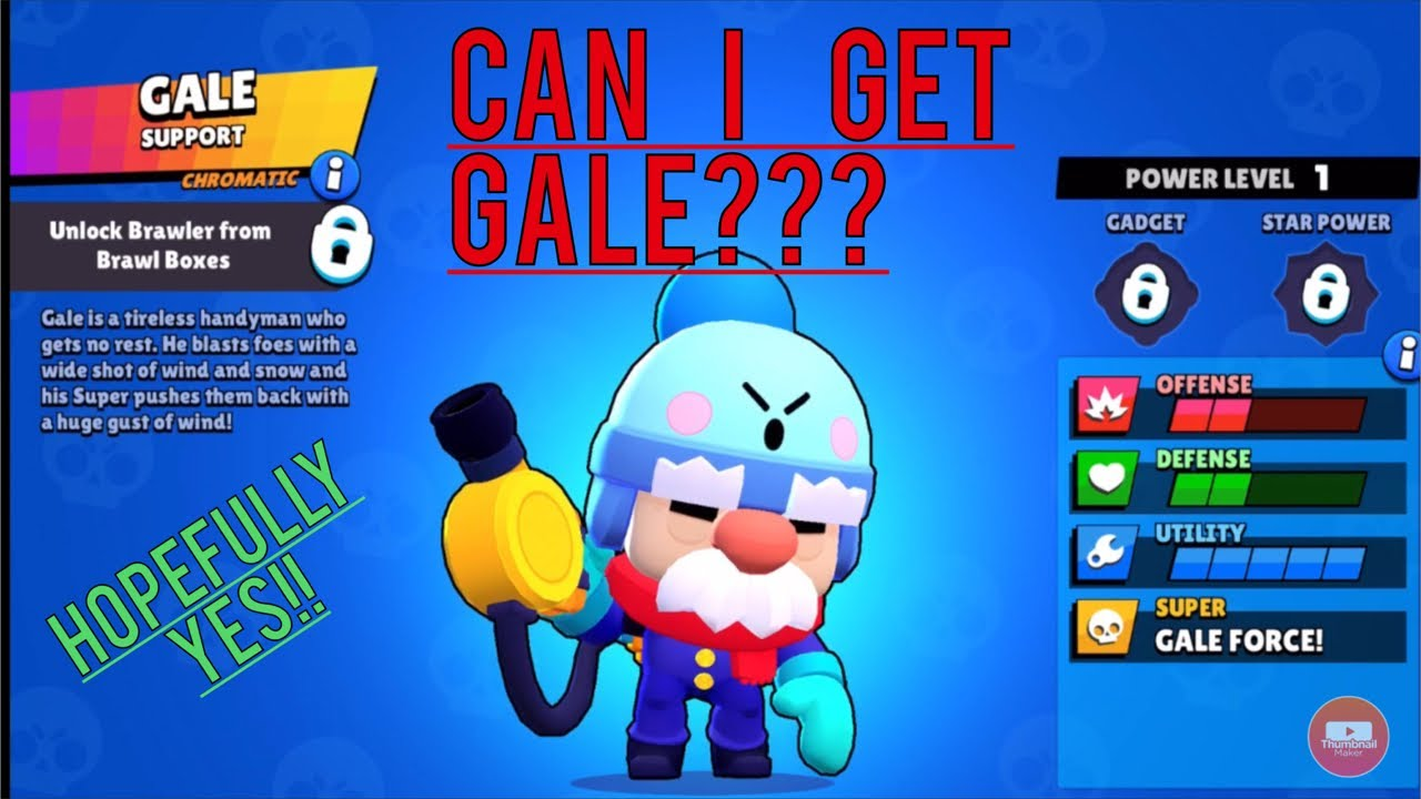 Can I get gale in 5 days? -Brawl Stars Gameplay-