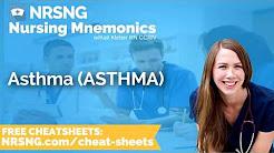 Asthma ASTHMA Nursing Mnemonics, Nursing School Study Tips